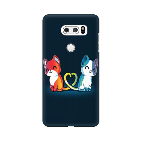 Purrfect Match Multicolour Phone Case For LG V30