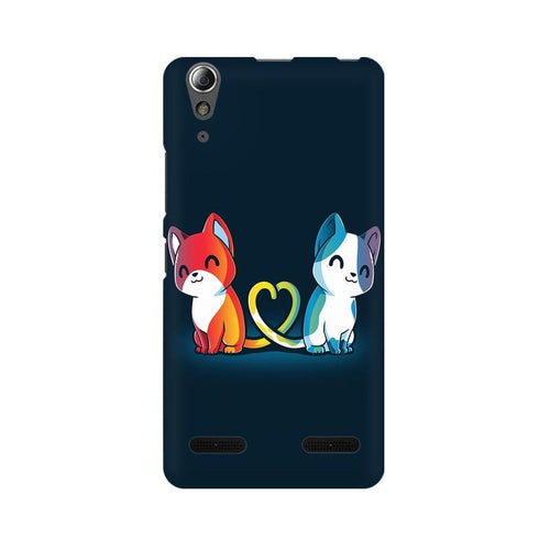 Purrfect Match Multicolour Phone Case For Lenovo A6000