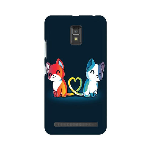 Purrfect Match Multicolour Phone Case For Lenovo A6600
