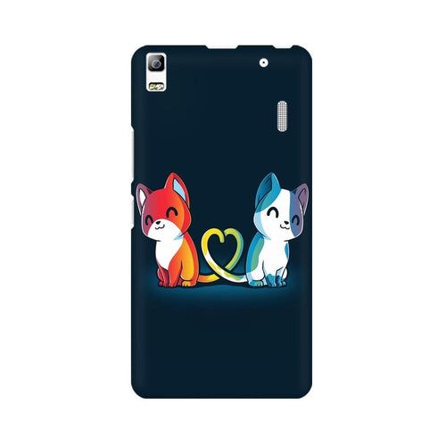 Purrfect Match Multicolour Phone Case For Lenovo A7000