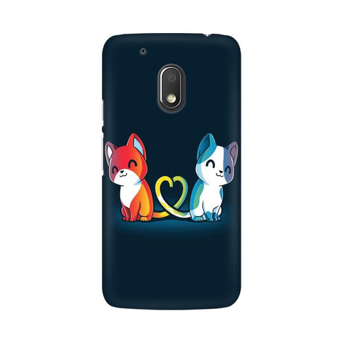 Purrfect Match Multicolour Phone Case For Moto G4 Play
