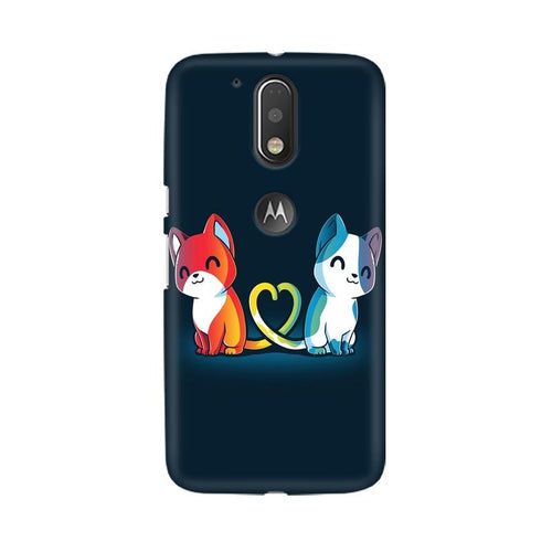 Purrfect Match Multicolour Phone Case For Moto G4 Plus