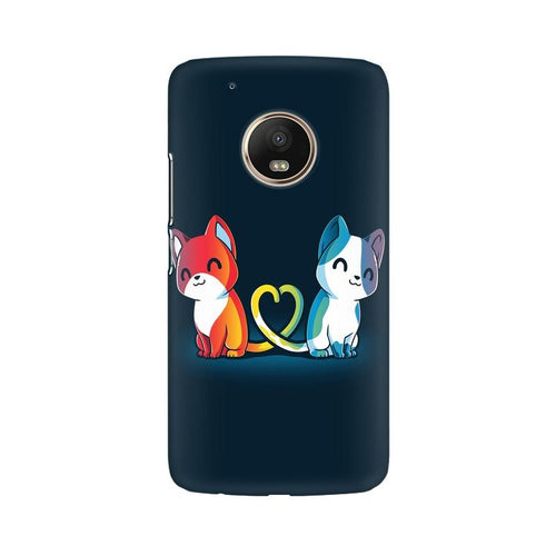 Purrfect Match Multicolour Phone Case For Moto G5 Plus