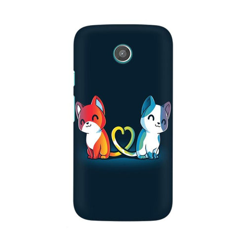 Purrfect Match Multicolour Phone Case For Moto G
