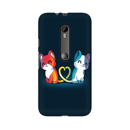 Purrfect Match Multicolour Phone Case For Moto X Force
