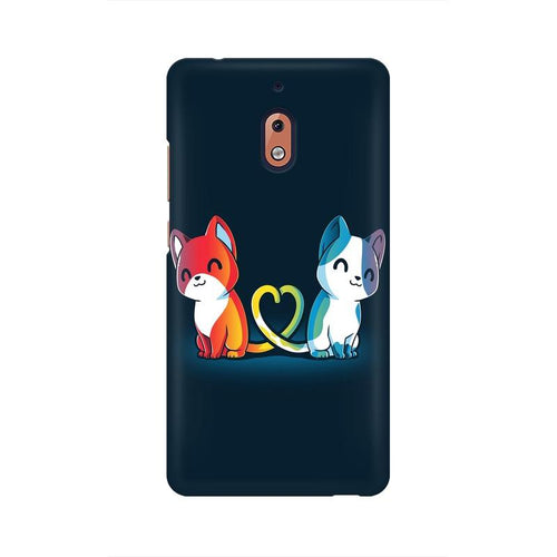 Purrfect Match Multicolour Case For Nokia 2 point 1