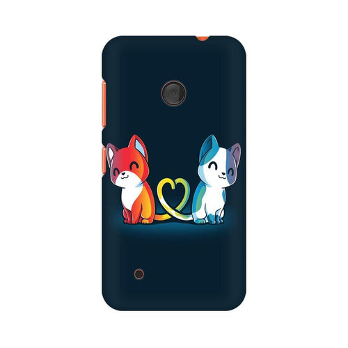 Purrfect Match Multicolour Case For Nokia Lumia 530
