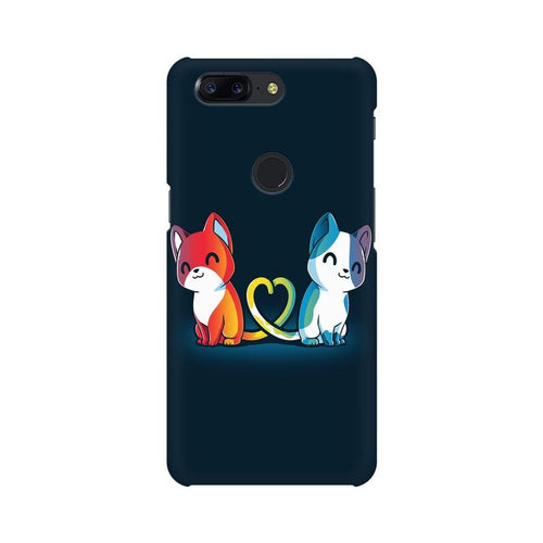 Purrfect Match Multicolour Case For OnePlus 5T