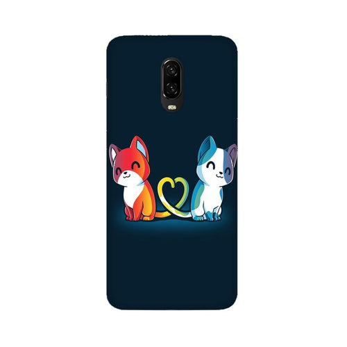 Purrfect Match Multicolour Case For Oneplus 6T