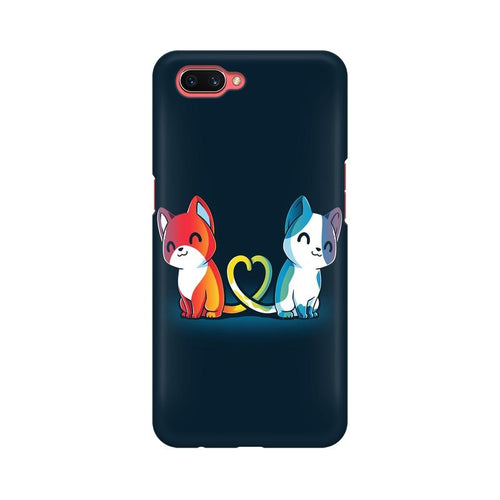 Purrfect Match Multicolour Case For Oppo A3s