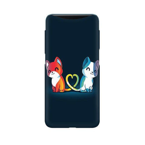 Purrfect Match Multicolour Case For Oppo Find X