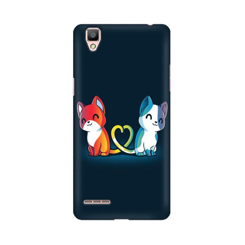 Purrfect Match Multicolour Case For Oppo R9