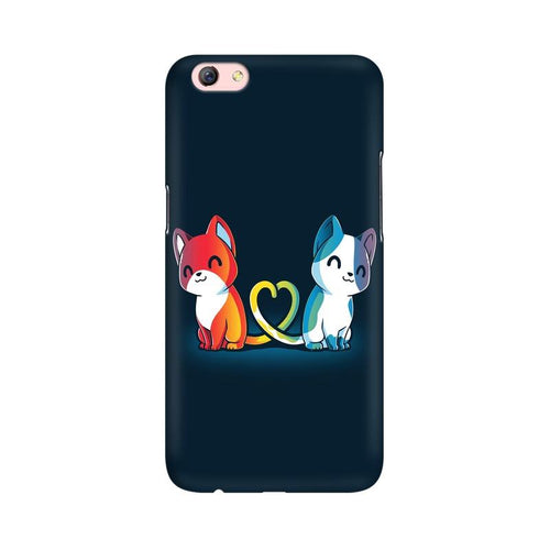 Purrfect Match Multicolour Case For Oppo R9s Plus