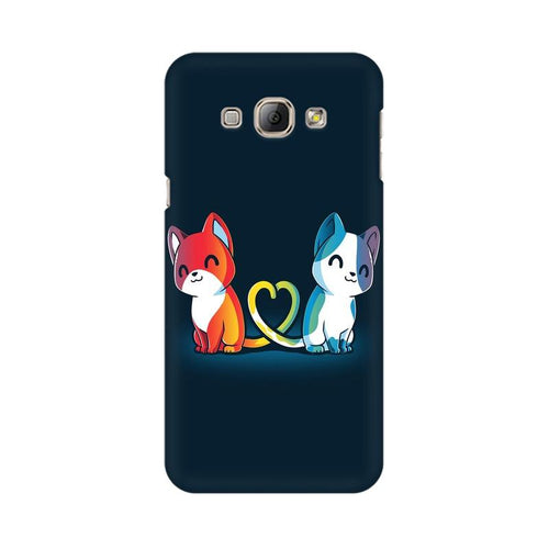 Purrfect Match Multicolour Case For   Samsung A3