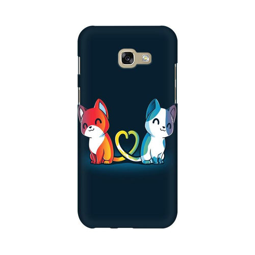 Purrfect Match Multicolour Case For  Samsung A7 2017