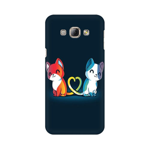 Purrfect Match Multicolour Case For  Samsung A8