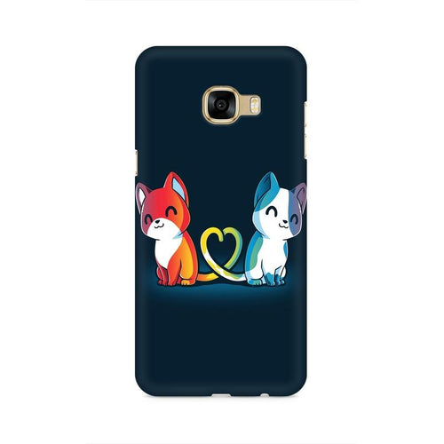 Purrfect Match Multicolour Case For  Samsung C5 Pro