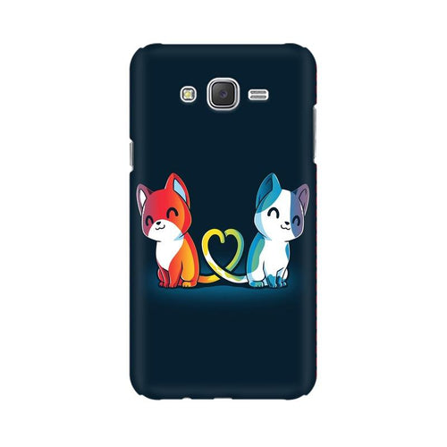 Purrfect Match Multicolour Case For  Samsung J1