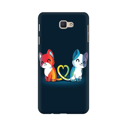 Purrfect Match Multicolour Case For  Samsung J5 Prime
