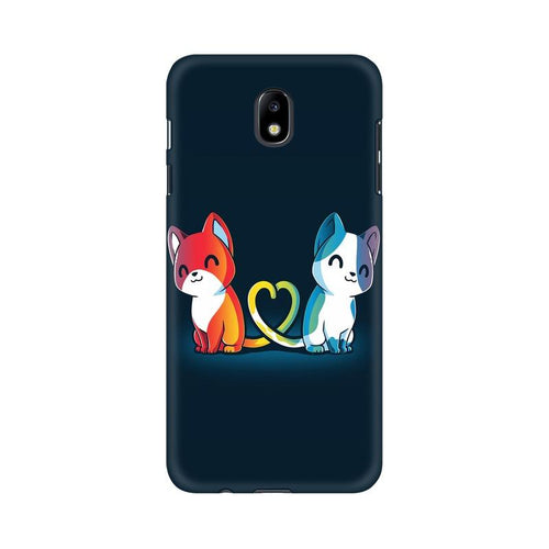 Purrfect Match Multicolour Case For  Samsung J7 Pro
