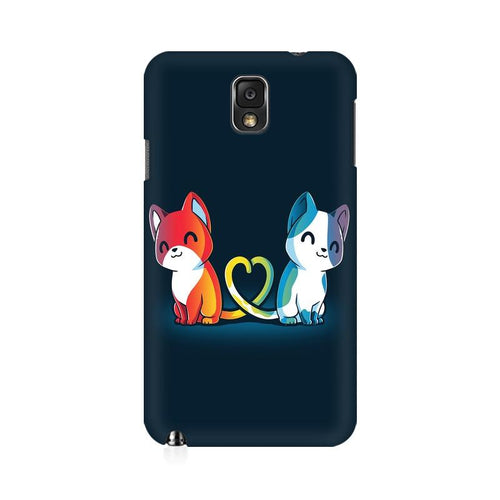 Purrfect Match Multicolour Case For  Samsung Note 3