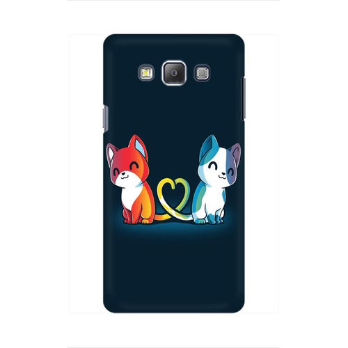 Purrfect Match Multicolour Case For  Samsung On 7