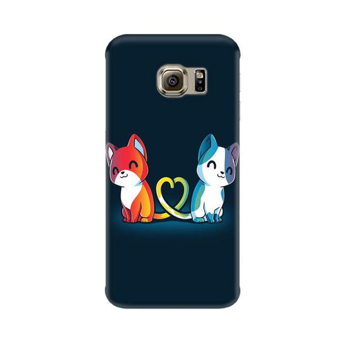 Purrfect Match Multicolour Case For  Samsung S7