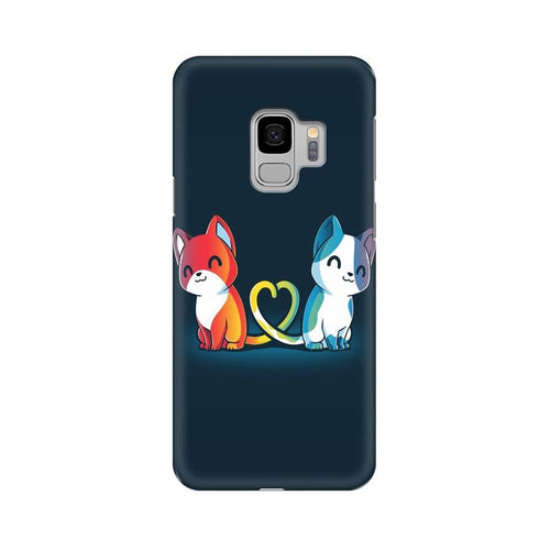 Purrfect Match Multicolour Case For  Samsung S9
