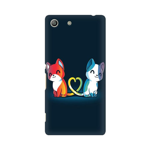 Purrfect Match Multicolour Case For Sony Xperia M5