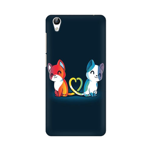 Purrfect Match Multicolour Case For Vivo Y51L