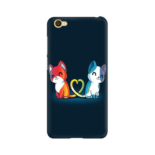 Purrfect Match Multicolour Case For Vivo Y67