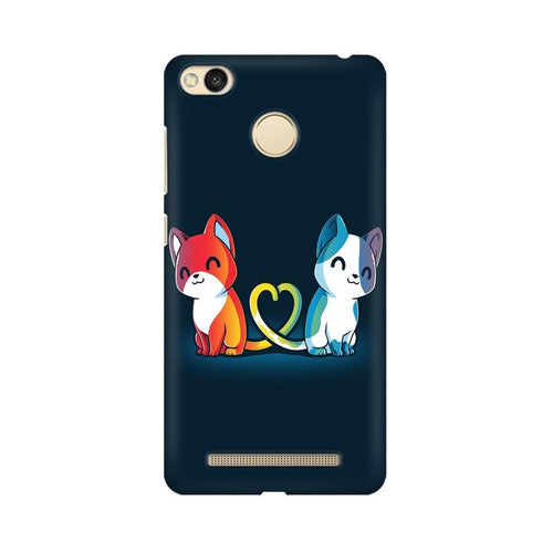 Purrfect Match Multicolour Case For Xiaomi Redmi 3s Prime