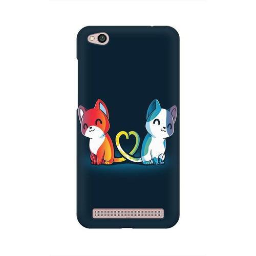 Purrfect Match Multicolour Case For  Xiaomi Redmi 5A