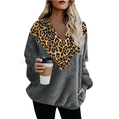 Fashion Leopard Print Long Sleeves T-shirt