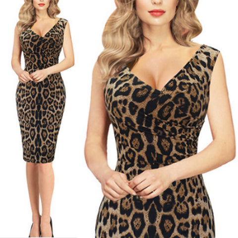 Sexy Leopard Bodycon Dress
