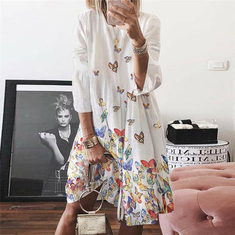 Leisure Butterfly Print Dress