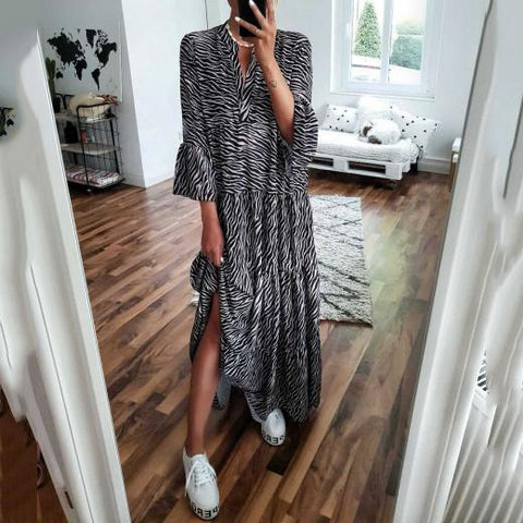 Women's Fashion Printed Loose Dress