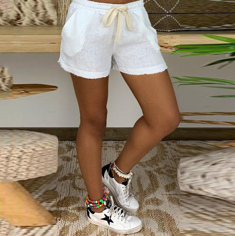 Casual Comfort White Shorts