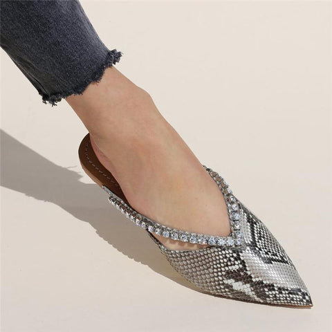 Women's Casual Snake Pointed Flats