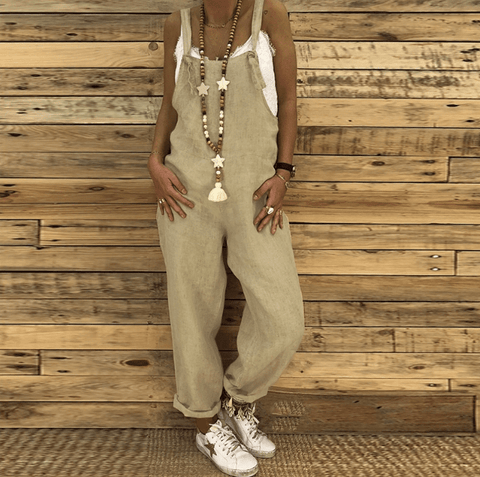 LIKELIP  Women Casual Loose Sexy Wide Leg Baggy Harem Jumpsuit