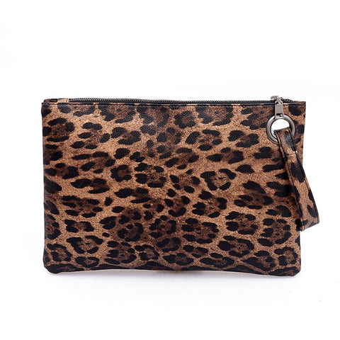 Female fashion leopard print hand bag