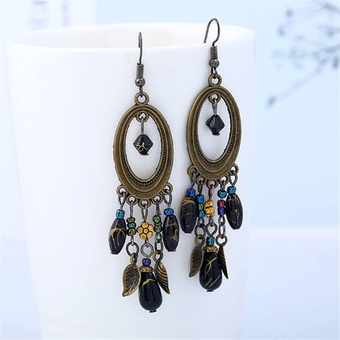 Fashion Retro Long Geometric Earrings