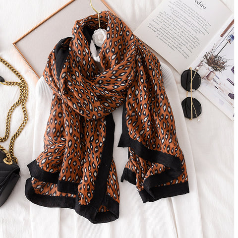 Fashion Leopard Warm Air Conditioning Shawl Scarf