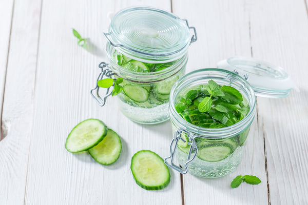 Hydrating cucumber mint drink