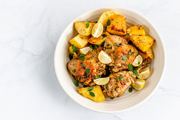 Greek Chicken and Potatoes with Lemon and Oregano