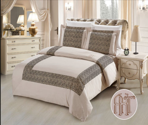 CA07 600 THREAD   COTTON, HAND MADE  BEDDING SET
