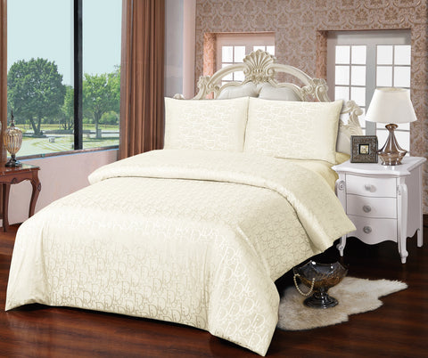 JA01B JACQUARD/300 THREAD COTTON BEDDING SET (DIOR INFUSION)