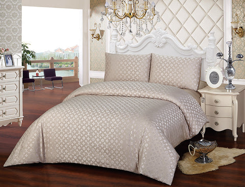 JA05G  JACQUARD/300 THREAD COTTON BEDDING SET (LV INFUSION)