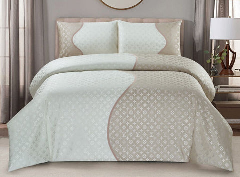 JA05P JACQUARD/300 THREAD COTTON BEDDING SET (DIOR  INFUSION)