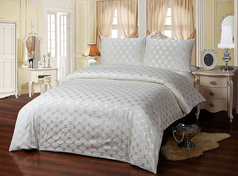 JA06B  JACQUARD/300 THREAD COTTON BEDDING SET (CHANNEL INFUSION)